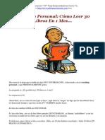 Coaching Personal Cómo Leer 30 Libros en 1 Mes