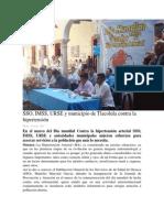13/05/14 oaxaca.me SSO, IMSS, URSE y municipio de Tlacolula contra la hipertensión