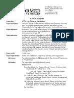 ET 512 NT Intro Syllabus (2013-14)