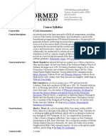 ET 621 Hermeneutics Syllabus (2014)