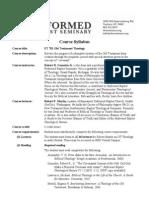 ET 701 OT Theology Syllabus (2013-14)