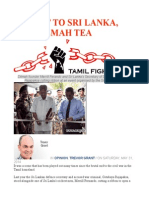 Say 'No' to Sri Lanka, And Dilmah Tea