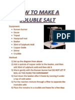 How to Make a Soluble Salt