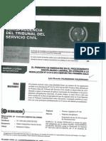 Principio de Inmediatez en El Proced. Disciplinario Laboral en Atencion a La Res. 01413-2013-Servir