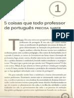 Coisas que todo professor de portugu�s precisa saber. Cap�tulo I
