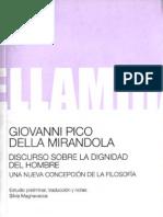 Giovani Pico Della Mirandola, Discuro Sobre La Dignidad Del Hombre