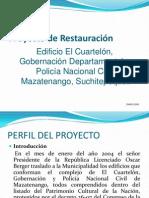 Proyecto de Restauracion . Solo Centro Cultural.