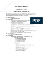 2014-05 Melzer PTO Minutes