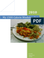 My 1500-Calorie Weekday Diet
