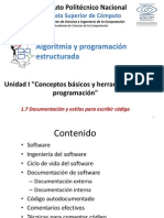 1.7 Documentación y Estilos Para Escribir Código