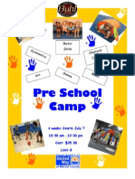 Pre School Camp