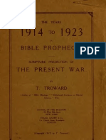 Thomas Troward - The Years of 1914 to 1923 in Bible Prophecy (1915)