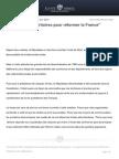 Reformer Les Territoires Pour Reformer La France