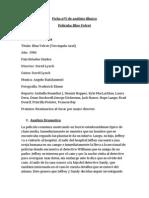 Ficha Nº5 de Análisis Fílmico BLUE VELVET