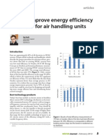 How to improve energy efficiency of fans for air handling units