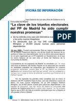 El PP de Madrid celebra los 6 años de Gobierno de Aguirre en la región