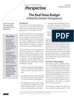 The Real Texas Budget - by the Texas Public Policy Foundation