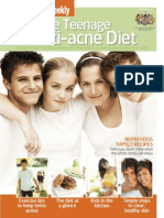 Anti-acne diet for teenagers