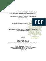 Factores de Poder Ilega Que Inciden en La Construcción Territorial en La Comuna 5