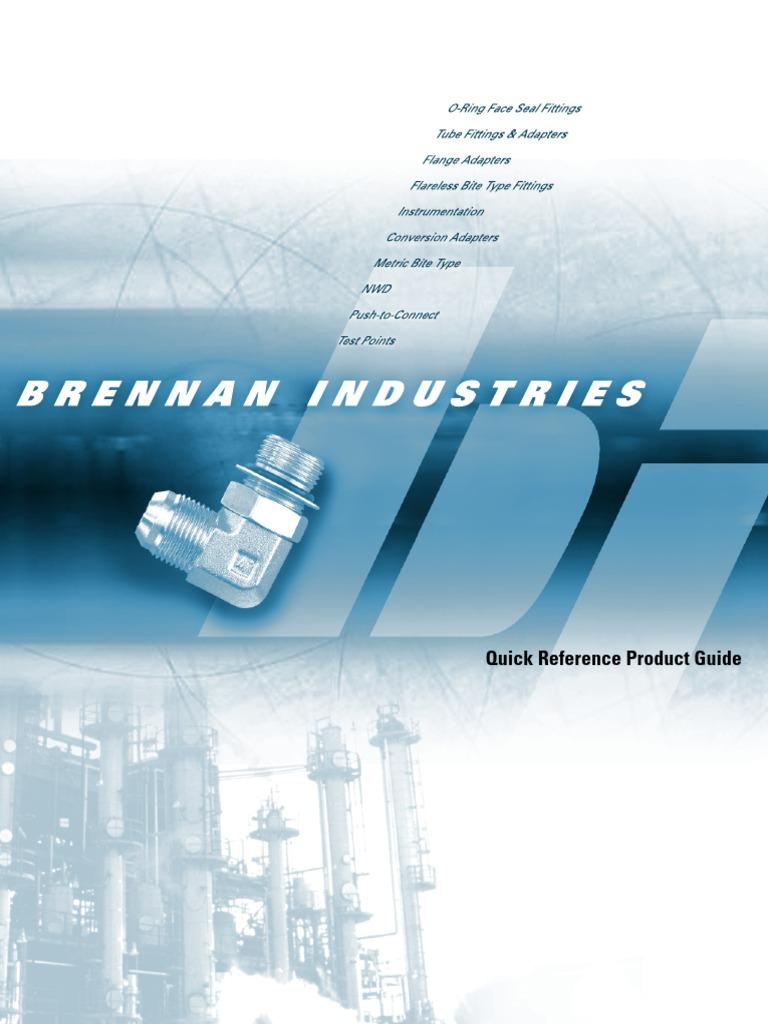 1 NPT Male Thread 1 Tube x 1 Tube x 1 Male NPT Brennan Industries N2601-16-16-16-SS Stainless Steel Tee Double-Ferrule Tube Fitting