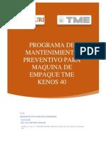 Programa de Mantenimiento Tme