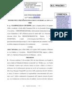 CIAMPOLILLO GIUSEPPE ANZA' SALVATORE PROCEDIMENTO 9916 2011  mem.art.183,6°-n.3 05 12 12