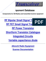 Components Data Base for Cb- Radios and Transmitter Receiver Equipment