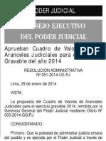 208034965 Aranceles Judiciales 2014