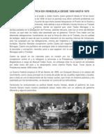 Evolución Política en Venezuel Desde 1858 Hasta 1870