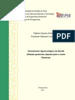 Zoneamento Agroecológico Do Dendê-Fabiano & Frankson
