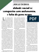 Declaracao Da Bahia - A Igualdade Racial Se Conquista