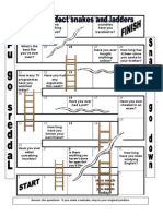 29091 Present Perfect Snakes and Ladders