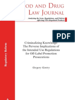 Food and Drug Law Journal Article reprinted with permission of FDLI