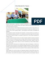 30/05/14 diariomarca Conmemora SSO Día Mundial Sin Tabaco