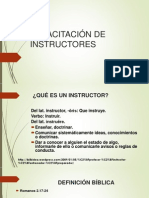 Capacitación de Instructores