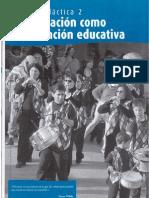 TEMA 2 LA ANIMACIÓN COMO INTERVENCIÓN EDUCATIVA