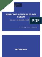 Clase 1 IND 2103 UNAB 2012-2- Aspectos Generales