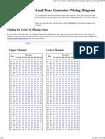 Hammond Keyboard and Tone Generator Wiring Diagram