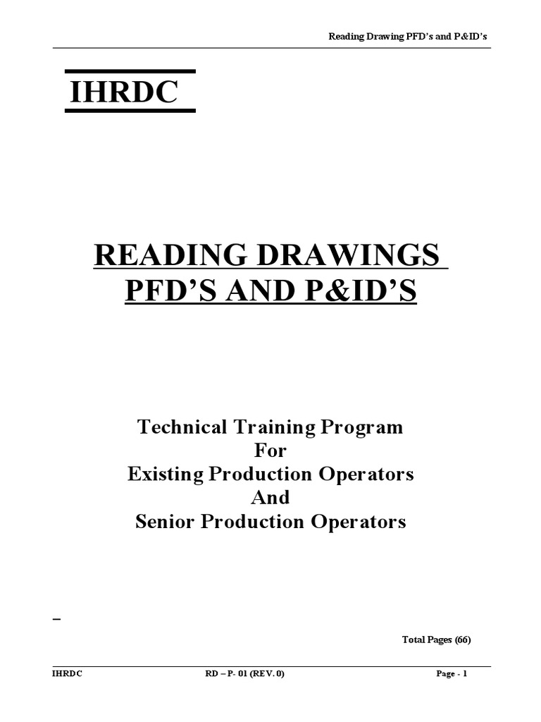 Reading Drwing Pfds And P Ids October Instrumentation Valve Piping Layout Meaning