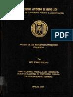 Tesis Analisis de Los Metodos de Planeacion Financiera