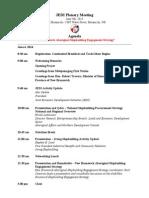 Agenda for JEDI Plenary Miramichi
