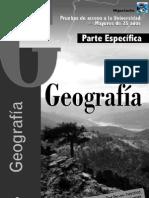 acceso a la universidad 25 años geografia