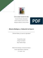 Informe de Investigación - Historia Biologica y Evolucion de La Especie