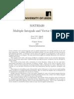 Multiple Integrals and Vector Calculus_Univ.leeds