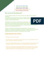 La Ética Profesional (Division)