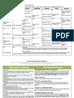June 2014 Yoga Class Schedule