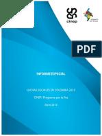 informe especial luchas sociales en colombia 2013
