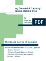 Balancing Demand & Capacity Managing Waiting Lines