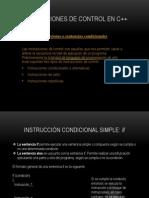 INSTRUCCIONES DE CONTROL en C++