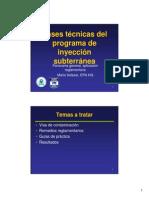 Bases Tecnicas Del Programa de Inyeccion Subterranea